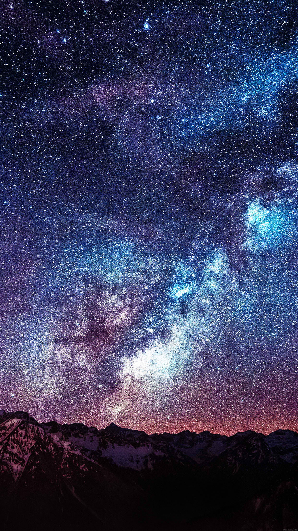 Amazing Milkyway Space Mountain Red Smartphone Wallpaper