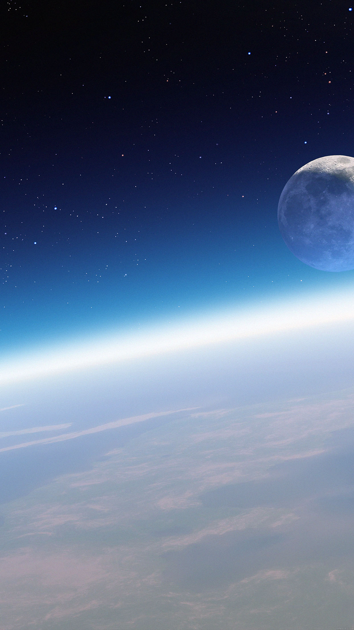 Earth Horizon In Space Smartphone Wallpaper