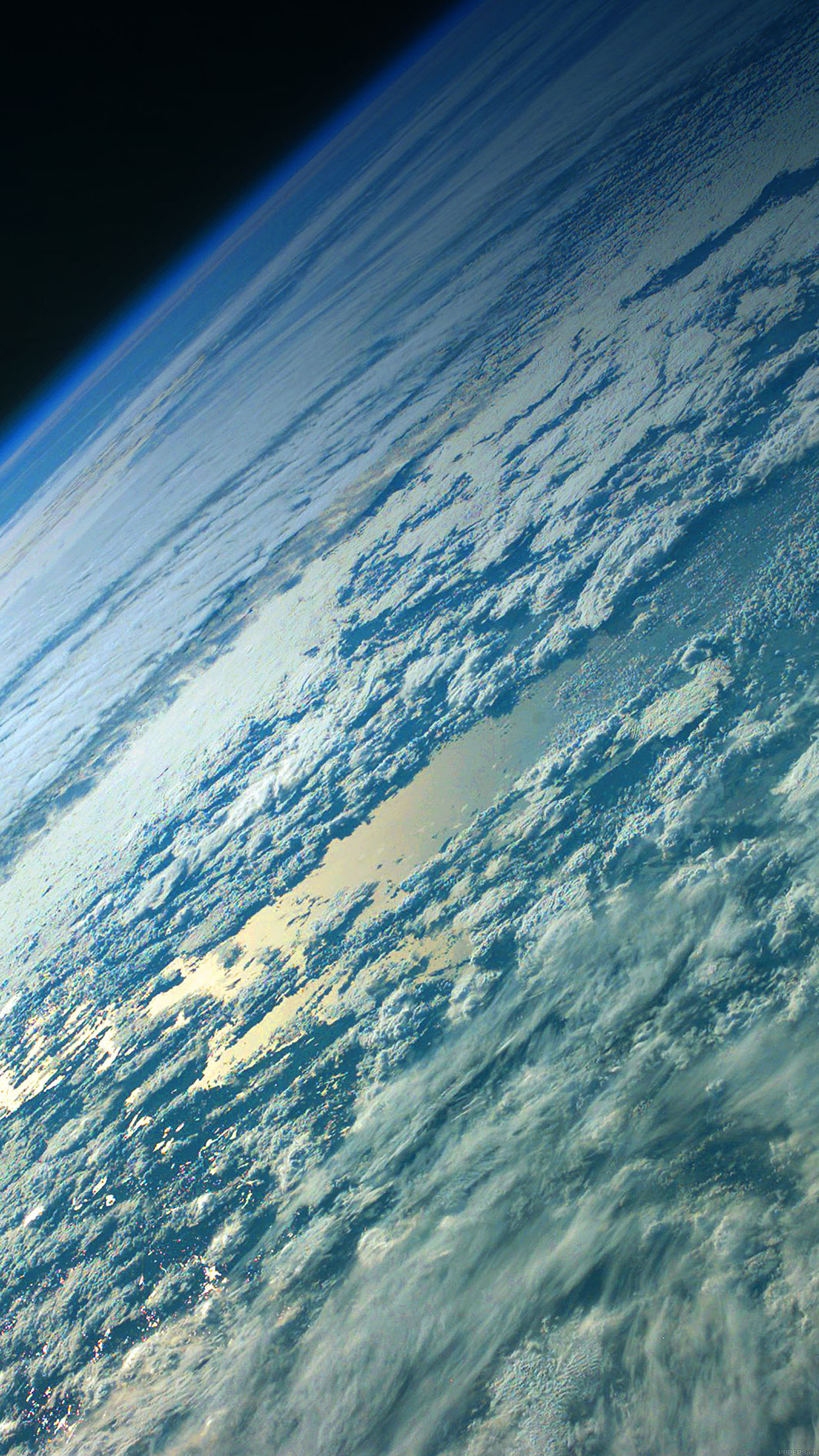 Green Earth Space Smartphone Wallpaper