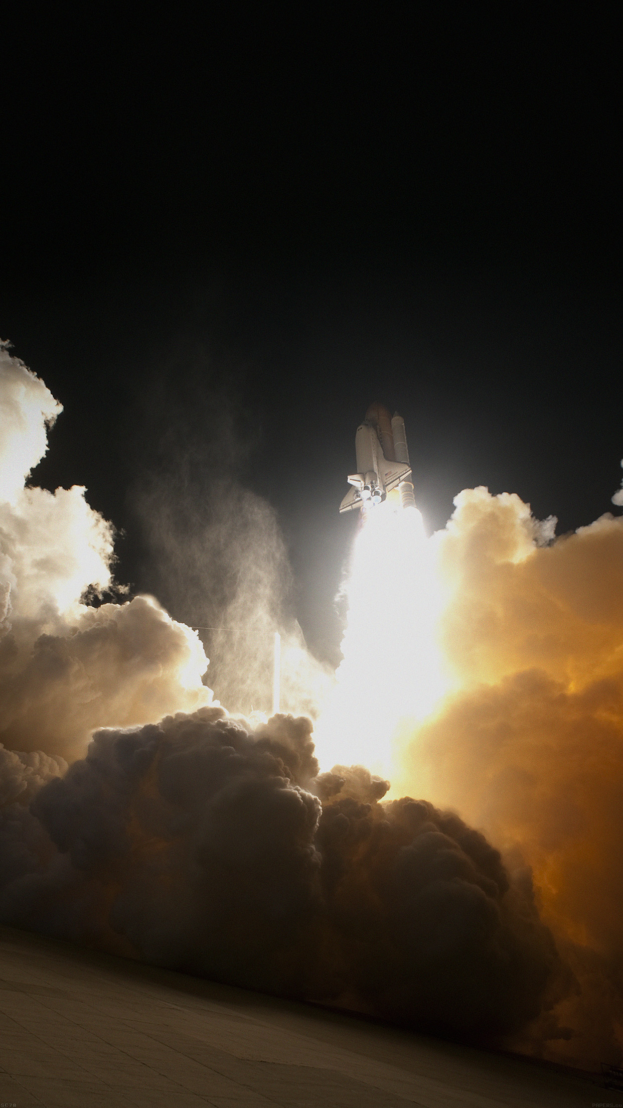 NASA Space Shuttle Clouds Dust Sky Smartphone Wallpaper