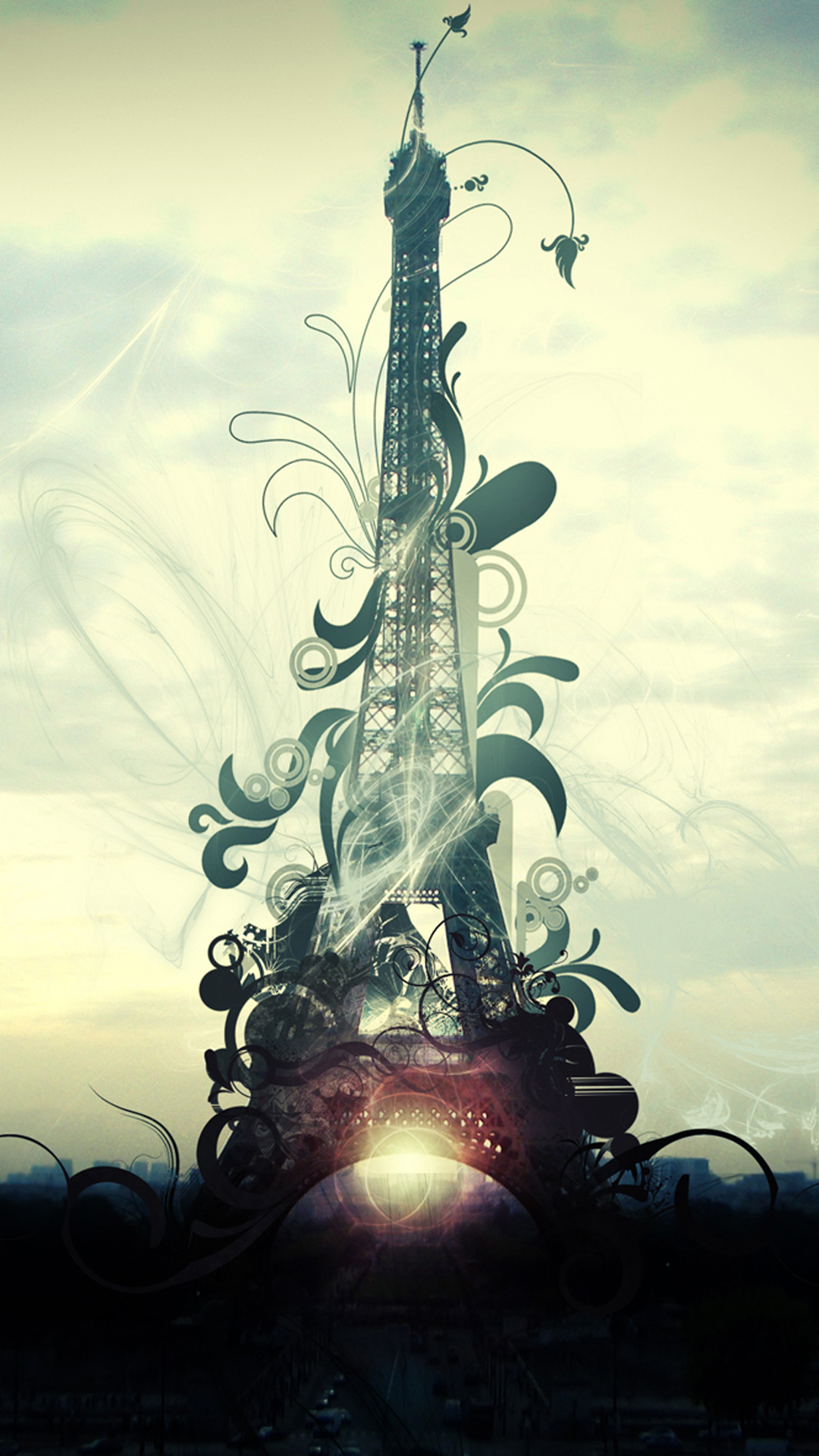 Abstract Eiffel Tower Smartphone HD Wallpapers