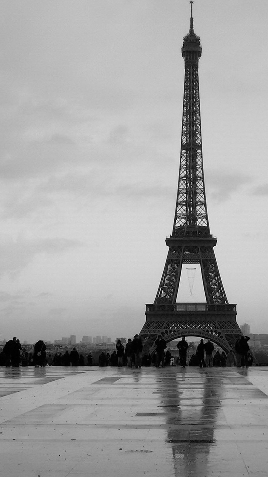 Black And White Eiffel Tower Smartphone Hd Wallpapers Getphotos