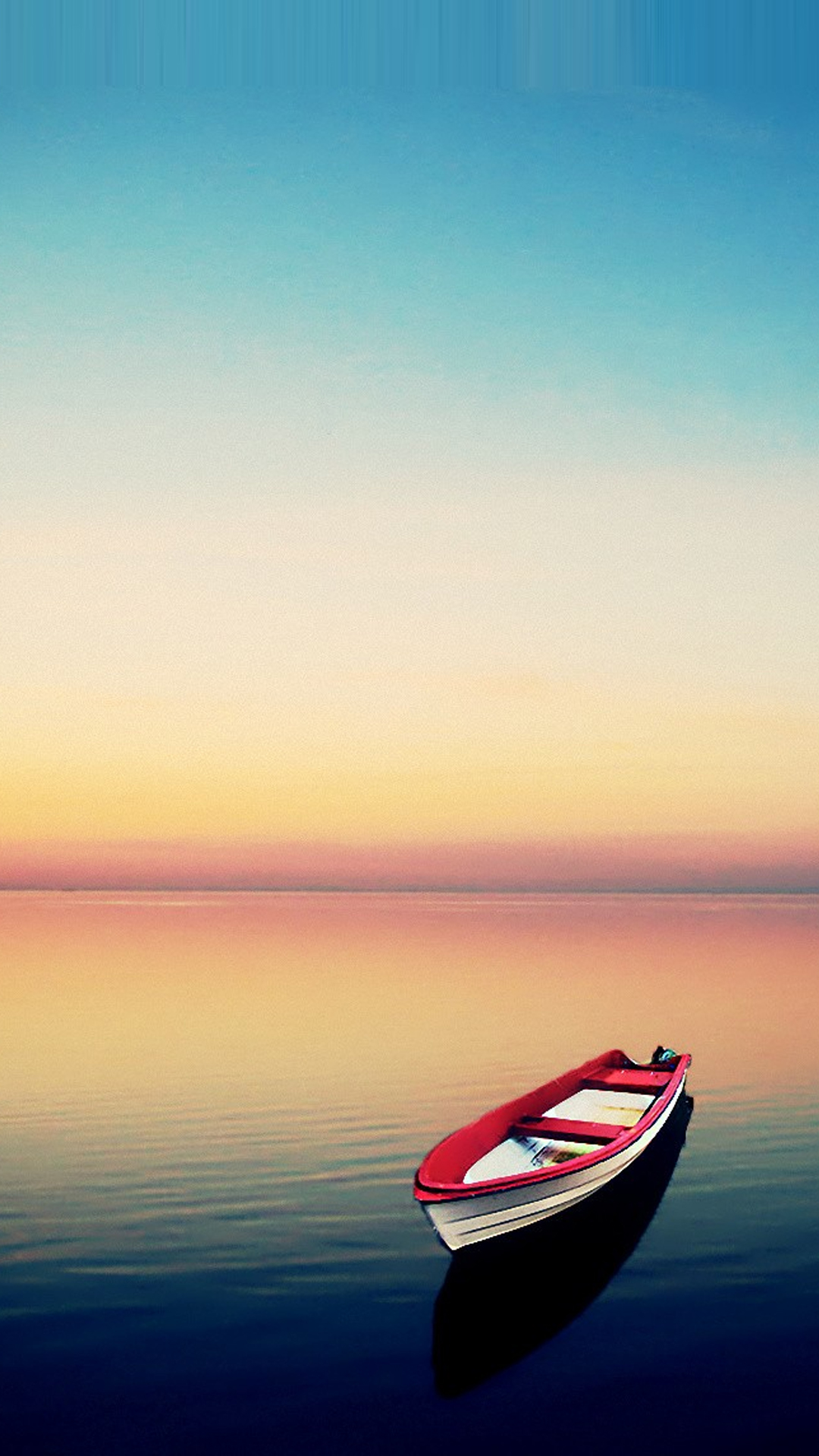 Boat at Sunset Smartphone HD Wallpapers