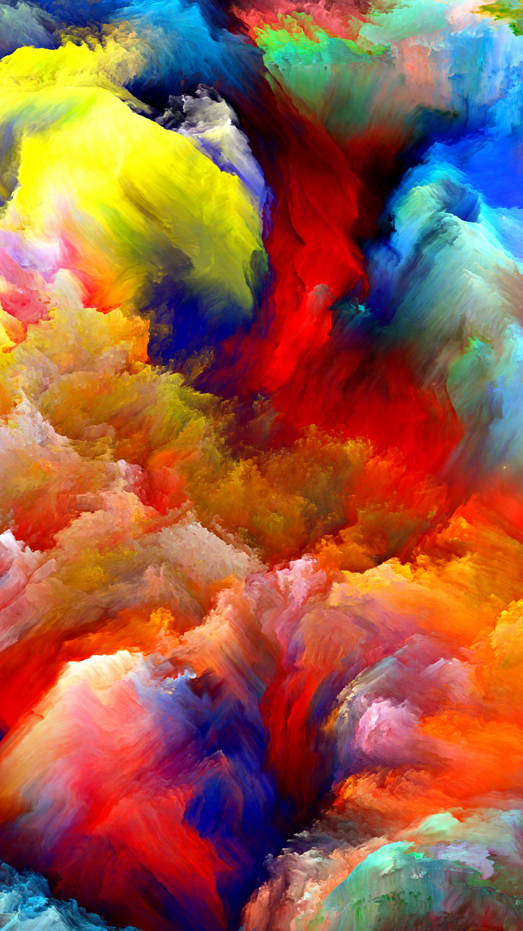 Oil Painting Colorful Clouds Smartphone Wallpaper