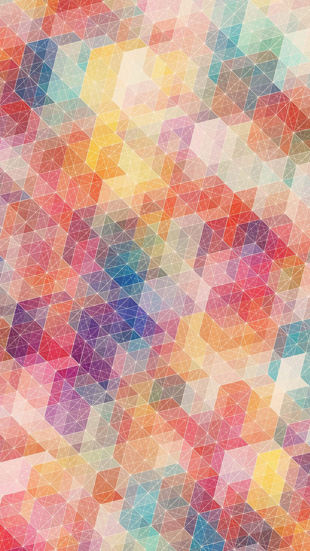 Pastel Geometry Smartphone Wallpaper