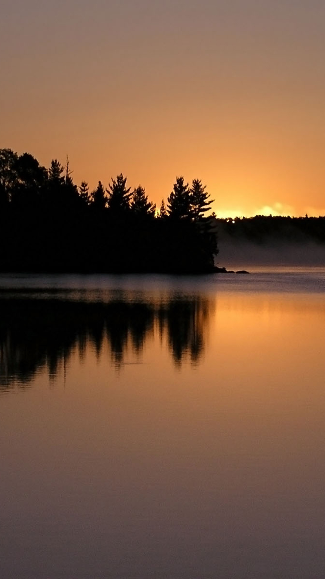 Sunset-Lake-Mist-Smartphone-Wallpapers-HD